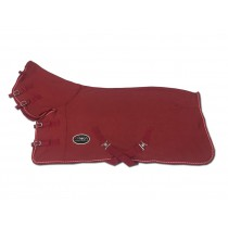 Shetlander Zweetdeken Soft Shell Fleece BRICK RED (vaste hals)