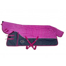 Winterdeken Nemax Pink Grey Checks 1200D (400 grams)